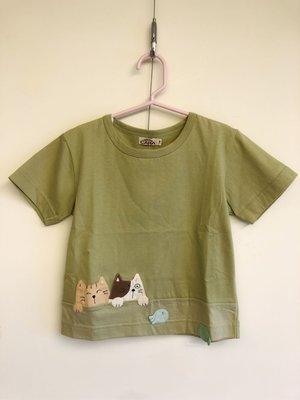 日本卡拉貓~等待的小魚純棉T恤 童裝...
