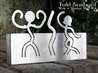 ☆成志金屬☆*頂級款*不鏽鋼廁所標示牌、化妝室掛牌、衛生間吊牌、洗手間標示牌