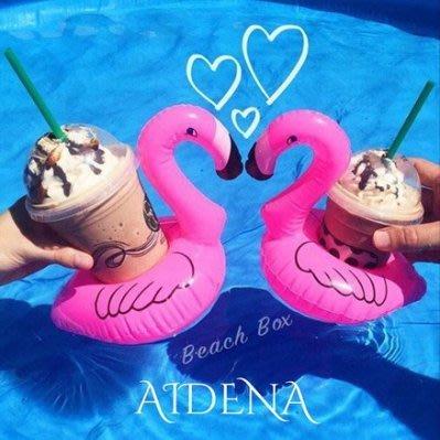 甜心粉充氣杯架 火烈鳥飲料架 峇厘島長灘島Villa度假泳池派對