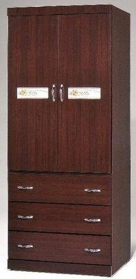 桃園國際二手貨中心 --- 雙門三抽衣櫥