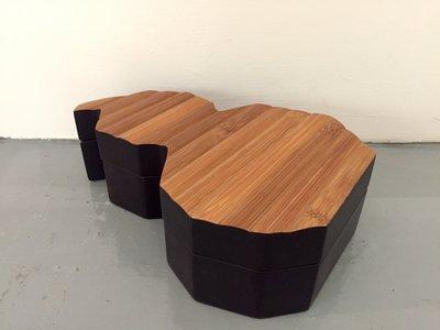 【一(藝)窩】近代 葫蘆型收納盒~紫漆+竹~