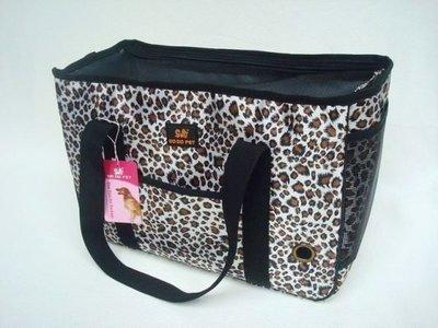 ☆最愛寵物精品☆ 時尚豹紋寵物提袋(M號下標區) 寵物包 寵物背包 貓背包 寵物提籃.