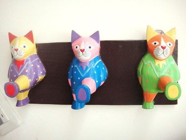 Y【永晴峇里島】巴里島風3大貓造型掛勾,衣架,居家、民宿、飯店都好用-掛勾3