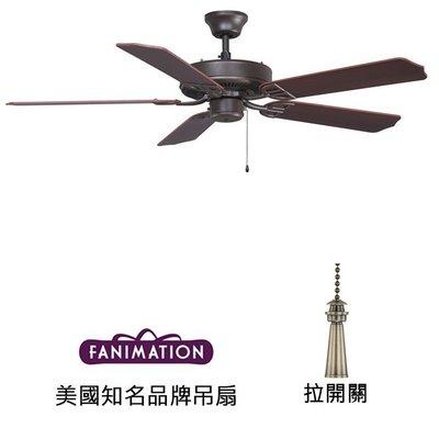 Fanimation Aire D'ecor 52英吋吊扇(BP230OB1)油銅色 適用於110V電壓