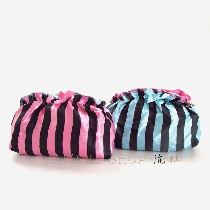 軟軟的緞感 兩個顏色都入還可以分類收納 日本雜誌附錄 Ravijour 化妝包 內衣收納包 萬用小物包(BHR1)