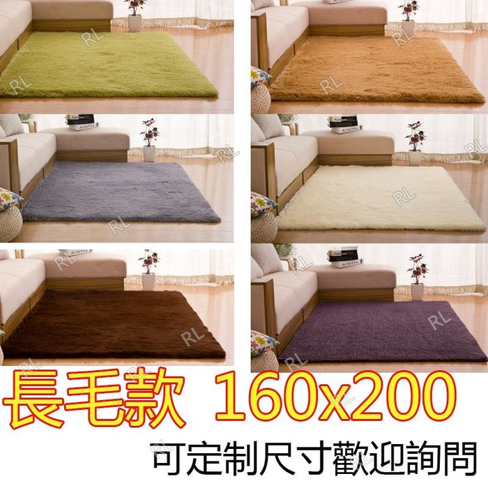 200*160cm絲毛地毯  防滑地毯 長毛款 瑜珈地墊 遊戲軟墊 可定製尺寸 歡迎詢問