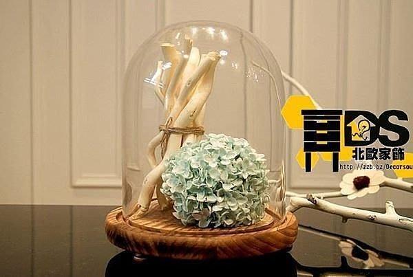 DS北歐家飾§ 美式鄉村田園 卉木情深玻璃罩花藝 擺件花器花瓶 裝飾擺飾多肉植物盆栽ZAKKA