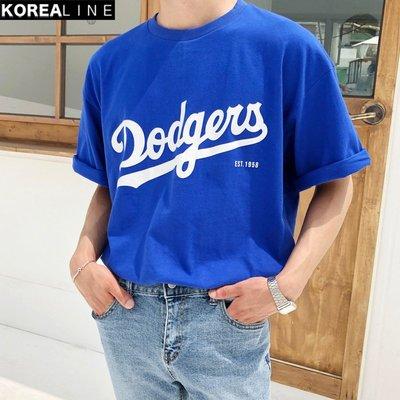 KOREALINE搖滾星球 / DODGERS洛杉磯道奇印刷短T / 2色 / NMO1209