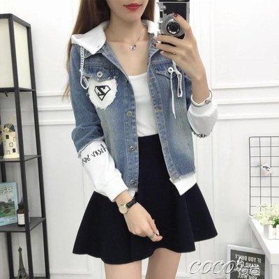牛仔外套 牛仔外套女春秋季學生寬鬆韓版bf短款棒球服休閒上衣新款外套