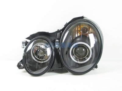 ~~ADT.車燈.車材~~BENZ CLK W208 CCFL光圈魚眼黑底大燈一組9000