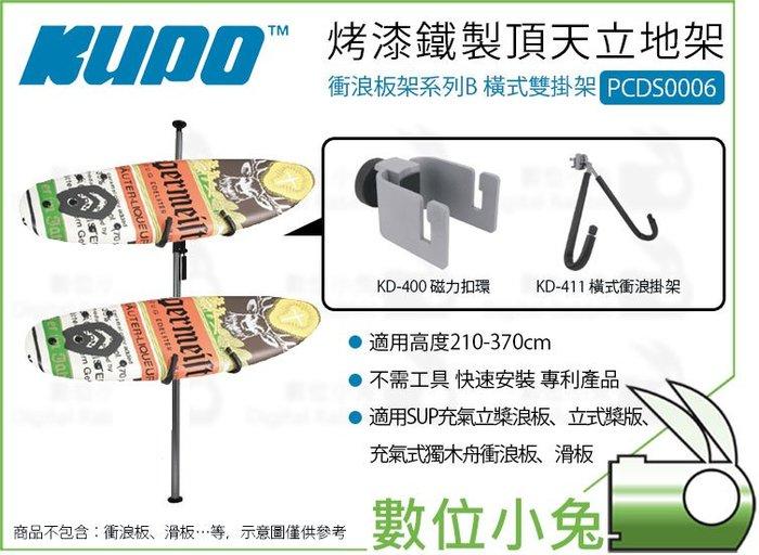 數位小兔【Kupo PCDS0006 烤漆鐵製頂天立地架 衝浪板架系列B 橫式雙掛架】衝浪板架 滑板架 天地桿 收納架