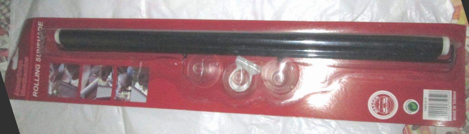 (紅標) 台灣製Rolling Sunshade汽車/廂型車/前&後檔車窗用伸縮手拉式遮陽簾(橫長42 cm*寬130)