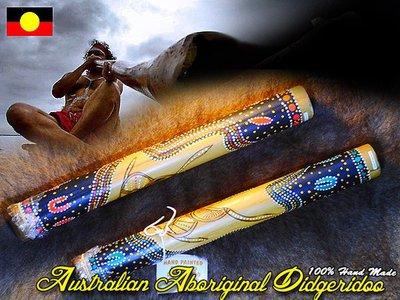 Australian Aboriginal Didgeridoo 澳大利亞原住民樂器 迪吉里杜管 100%澳洲製造 澳洲禮品 禮物擺飾