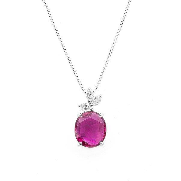 【JHT 金宏總珠寶/GIA鑽石專賣】2.18ct天然紅寶鑽墜/材質:18K(JB39-A13)