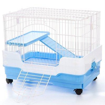 熱賣折扣 兔籠兔籠兔子籠自動清糞防噴尿抽屜式雙層兔籠子特大號籠子荷蘭豬用品