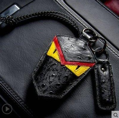 Skoda 斯柯達Golf Roomster Yeti Fabia Sedan Rapid 小怪獸真皮鑰匙包 鑰匙保護套