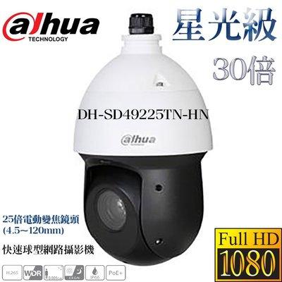 大華 Dahua 星光級25倍 1080P 紅外線100米 電動變焦 快速球型網路攝影機 4.8mm-120mm