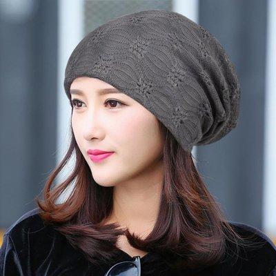 薄款月子帽頭巾空調帽光頭化療帽女透氣堆堆帽 LQ2770