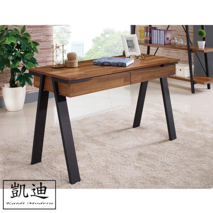 【凱迪家具】M3-359-2天翼4尺柚木集層二抽書桌/桃園以北市區滿五千元免運費/可刷卡