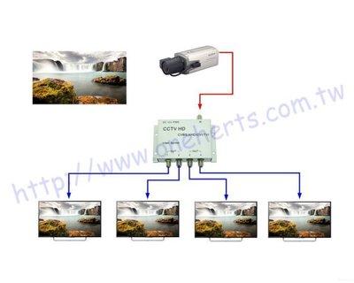HD影像放大分配器一進四出 1分4 數位 類比 影像分配器 監視器 攝影機放大器 VIDEO DVR AHD TVI
