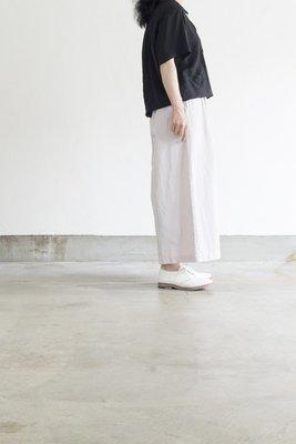 GRANDMA MAMA DAUGHTER|棉麻褶gather寬褲子