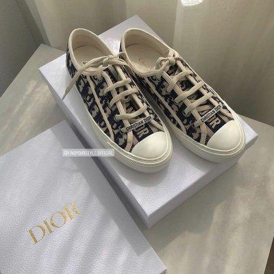 Findyourstyle正品代購 Dior Flats 刺繡棉老花帆布鞋