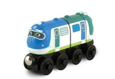 愛卡的玩具屋㊣ 正版CHUGGINGTON 恰恰特快車 火車寶寶@ 磁性 原木小火車頭 @-TOOT-HOOT-嘟嘟呜呜