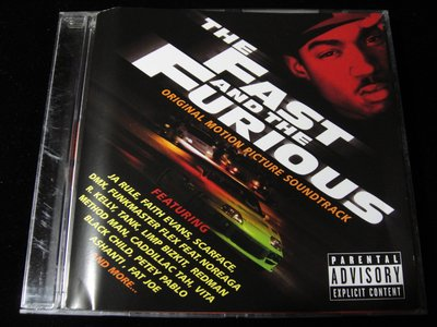 【198樂坊】The Fast and the Furious 玩命關頭(電影原聲帶....歐版)CV
