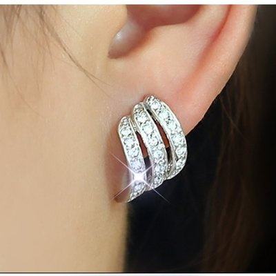 氣質簡約耳環純銀耳釘耳夾無耳洞