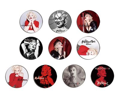 現貨 MADONNA Rebel Heart pinback BADGE SET 襟章 徽章 (一套10個)