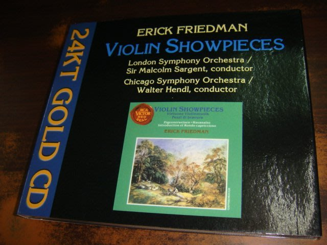 好音悅 發燒片 24KT GOLD Erick Friedman 超技小提琴名曲 RCA Red Seal USA 美版
