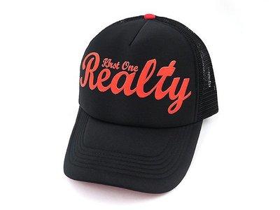 ☆二鹿帽飾☆【Realty】男女皆可‧潮流配色『丹寧風』國旗網帽.棒球帽/街舞風格-黑紅色