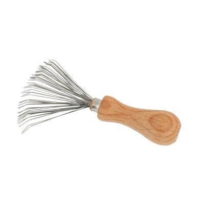 【德國 Redecker】刷具清潔金屬刷 刷具清理刷 梳子清潔刷 梳子清理刷 山毛櫸木柄刷 木柄金屬刷 鋼絲刷 德國製