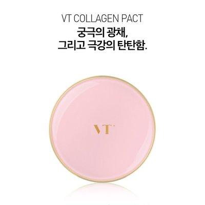 【韓Lin連線代購】韓國 VANT36.5 - VT粉色膠原蛋白拉花氣墊粉餅 VT Collagen Pact