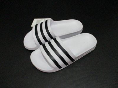 【喬治城】ADIDAS ADILETTE AQUA 女款 愛迪達運動拖鞋 白黑 G28719 特價590元