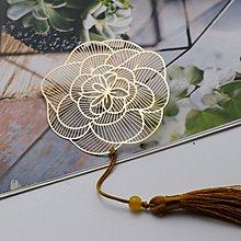 書籤 文具 「薔薇花」中國風古風古典玫瑰牡丹花書籤植物花卉禮品精密外事