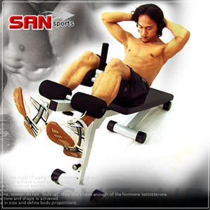 仰臥起坐板【推薦+】哪裡買/SAN SPORTS台灣製造 旗艦型仰臥板P105-298健腹機健腹器啞鈴椅舉重椅握推床