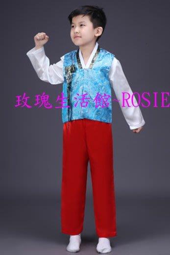 【玫瑰生活館】~ 兒童韓服男套裝: 男童韓服110~150碼