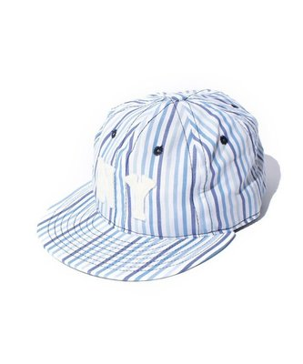 【咻SHOES運動】BEAMS X Ebbets Field Flannels 藍白條紋 NY 棉質 棒球帽 美國製