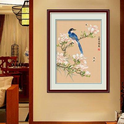 十字繡新款古風線繡小幅花鳥喜鵲客廳臥室小件簡單手工#十字繡#磚石畫#簡約#現代