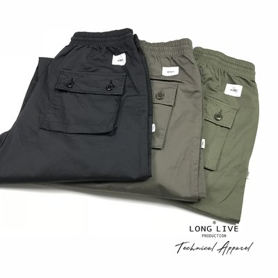 【小囧妹香港正品代購】 WTAPS FROCK/TROUSERS.COTTON.SATIN 寬松 束腳軍褲 18SS 縮口褲