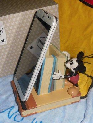 日版﹝Disney﹞限量 ※Mickey Mouse米老鼠(米奇) ※【米奇推書本造型】智慧型手機座+筆筒