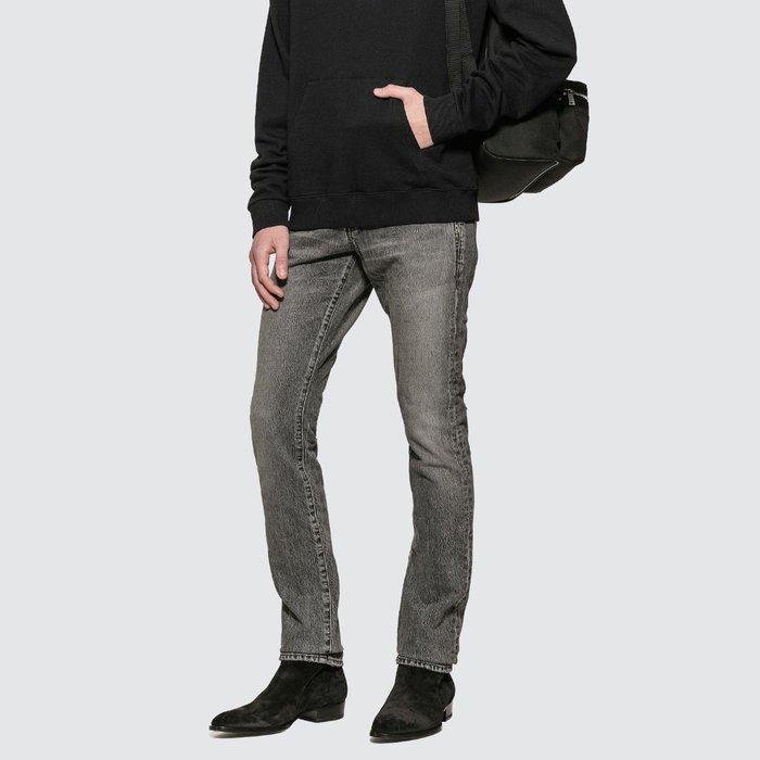 Saint Laurent - Distressed Skinny Jeans 男仿舊緊身單寧褲 超低折扣代購中