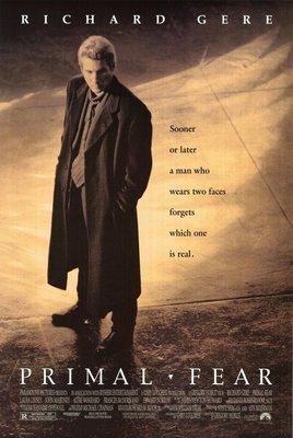 驚悚 (Primal Fear) - 李察吉爾Richard Gere - 美國原版雙面電影海報(1996年)