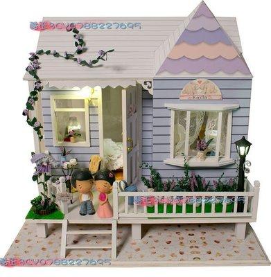 【酷正3C】中型DIY小木屋  模型組合 袖珍屋 娃娃屋  夏威夷蜜月之旅 禮物(現+預)