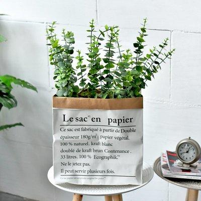 高仿花仿干枝插花假花仿真植物客廳家居裝飾擺設藝術尤加利葉花藝套裝