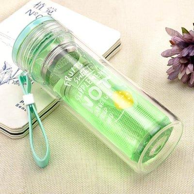 [優品購生活館]韓版隨行創意雙層潮流隔熱便攜水杯韓版學生玻璃杯可愛泡茶杯子