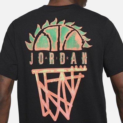 南◇2021 4月 NIKE JORDAN 太陽籃球 運動 休閒 短袖 短T 黑色 CZ8060-010 白色 100
