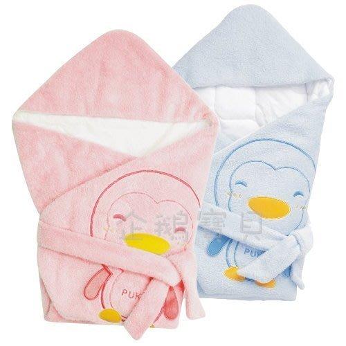 @企鵝寶貝二館@ 藍色企鵝 PUKU 暖暖包巾 (P26322)
