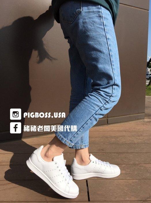 【豬豬老闆】 Adidas Originals Stan Smith 白色 全白 愛迪達 三葉草 女鞋 S75104